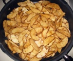 Raw fried apples